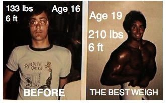 before and afer weight gain muscle building natural force feeding